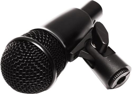 set profesional d 7 microfonos p/ bateria c/ estuche y clamp