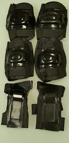 set protecciones rodilleras coderas muñequeras rollers skate