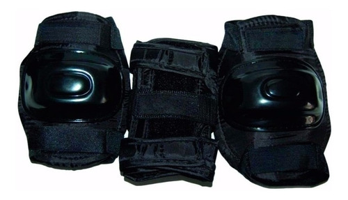 set protecciones rollers skate rodillas codos muñecas cuotas