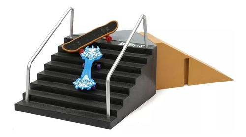 set rampa escalera + fingerboard skatepark para tech deck #3