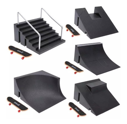 set rampa + patineta fingerboard para tech deck #1