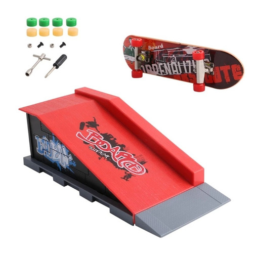 set rampa skatepark + fingerboard para tech deck modelo b