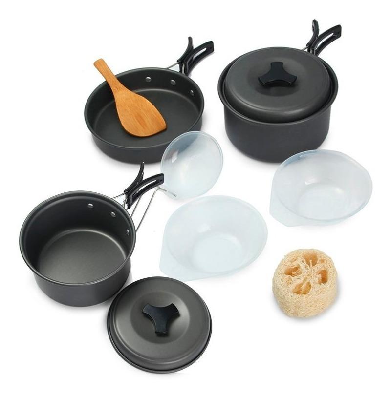 dde0e9bab9a Set Recipientes Utensilios Cocina Camping Ollas - $ 89.900 en ...