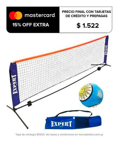 set red de fútbol tenis playa + soporte + bolso - el rey