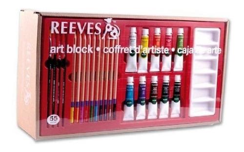 set reeves art block large 55 piezas r4910214