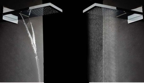 Set regadera cascada lluvia con mezcladora ducha de mano for Mezcladora de ducha