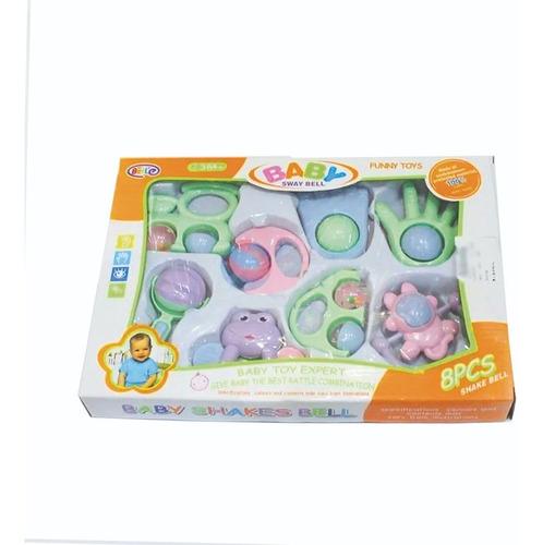 set regalo de 10 sonajeros bebe colores pastel no toxico