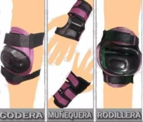 set rodilleras codera guantes patinar para niñas y niños ypt