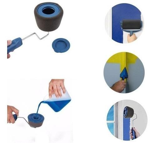 set rodillo pintar fácil antiderrame recargable con fierro