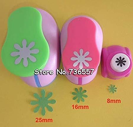 set sacabocados margaritas 25mm y 16mm goma eva o papel