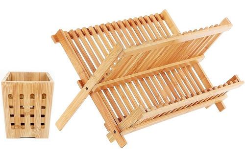 set secaplatos bamboo y cubiertero bamboo
