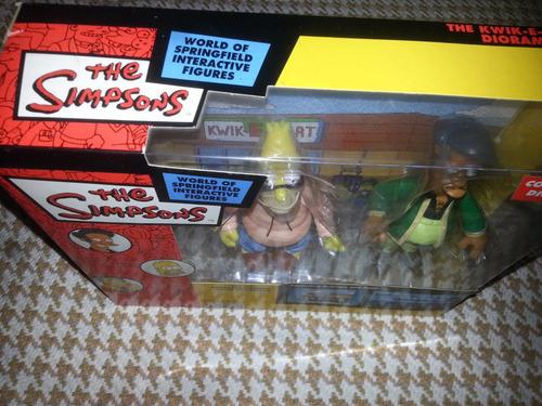 set simpsons playmates-abraham simpsons y apu+diorama oferta