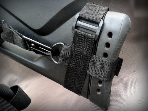 set sling porta fusil rifle aire mendoza ganchos metalicos