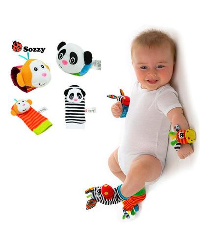 set sonajeros medias y muñequeras estimulación bebé sb3 lb