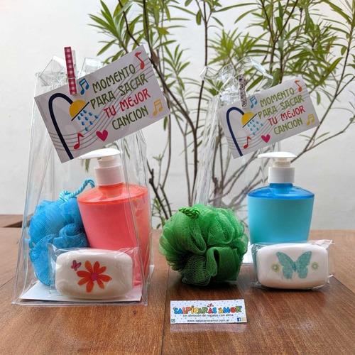 set spa bolsa cristal pvc baño dispenser jabon
