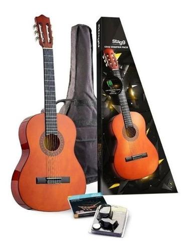 set stagg c542 guitarra clasica criolla excelente calidad