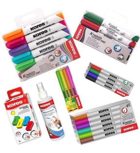 set tablero 20 marcadores, borrador tablero yresaltador