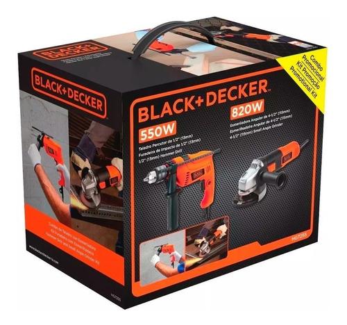 set taladro percutor y amoladora angular black decker hg7255