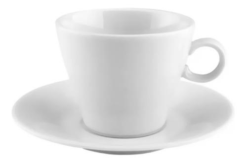 set taza plato cafe pocillo conica porcelana tsuji 1600