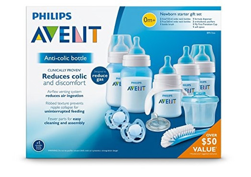 set teteros phillips avent anti-colic classic 10 piezas
