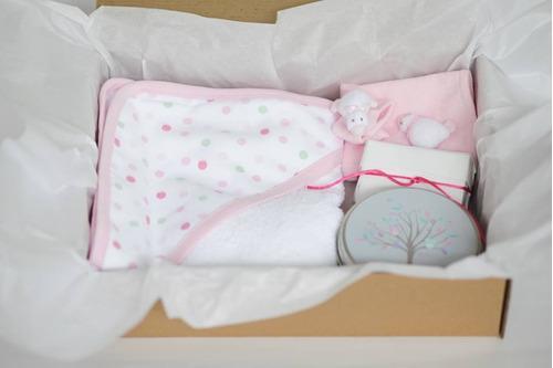 set timi stuffi i - toalla con capucha para bebe
