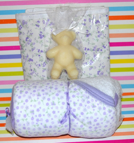 set toalla cambiador jabón varios modelos little treasure