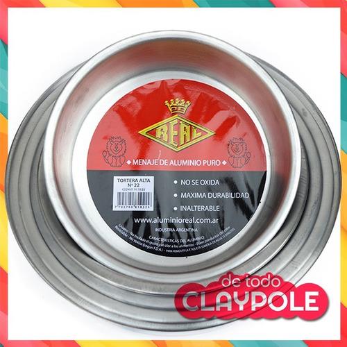 set tortera *6 redondo aluminio puro 22,24,26,28,30,32 cms