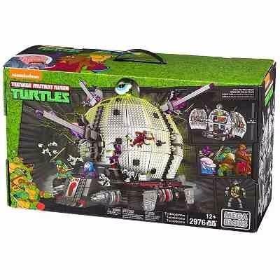 set tortugas ninja tecnodromo mega bloks de 2,976 piezas