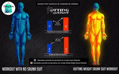set traje sauna reductor kutting weight entre y lleve