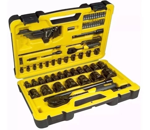 set tubos con 78 piezas tech 3 stanley stmt81213-840