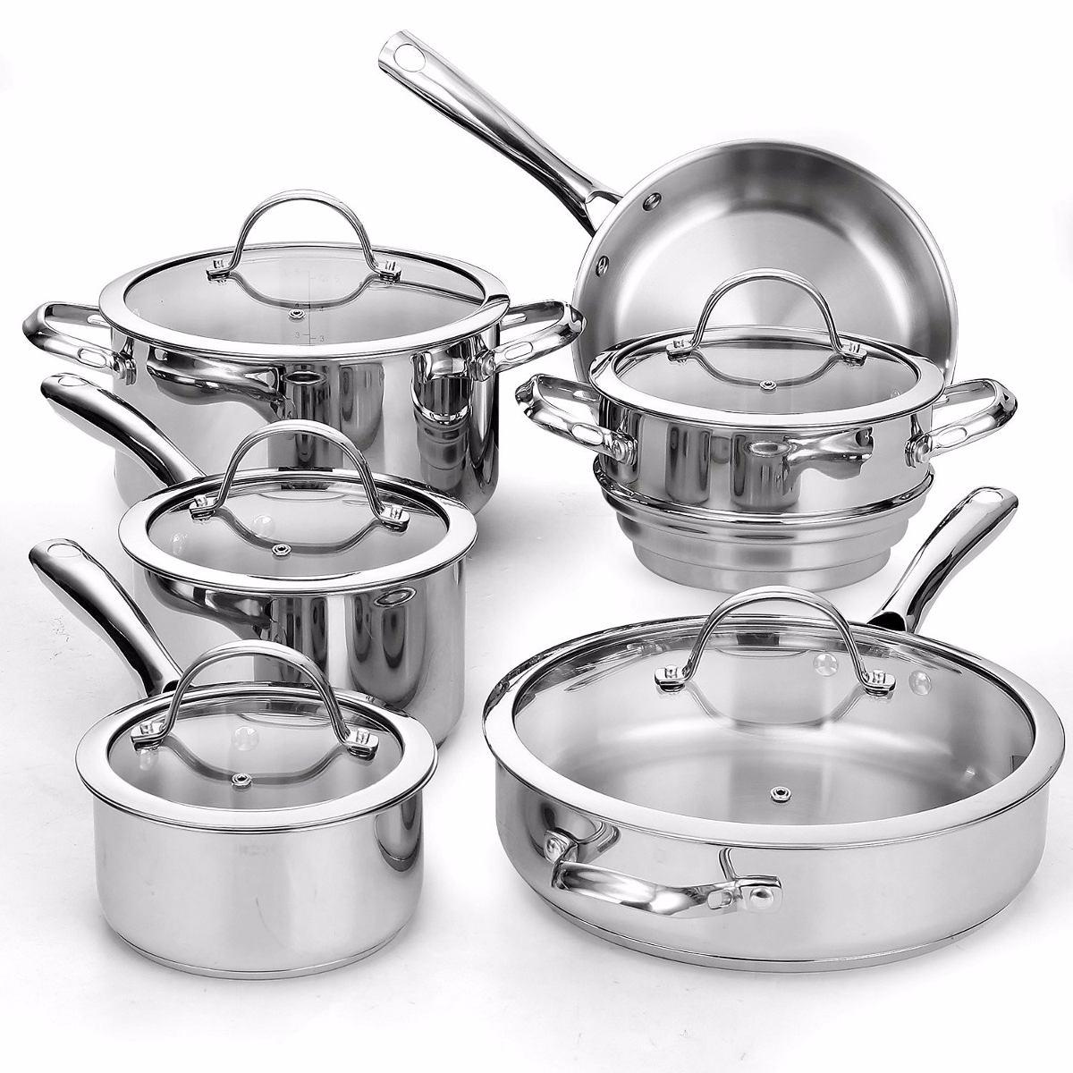 Set Utensilios De Cocina 11 Piezas Acero Inoxidable Sartenes ...