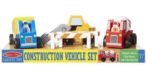 set vehiculo auto madera de construccion x3 didactico cuotas