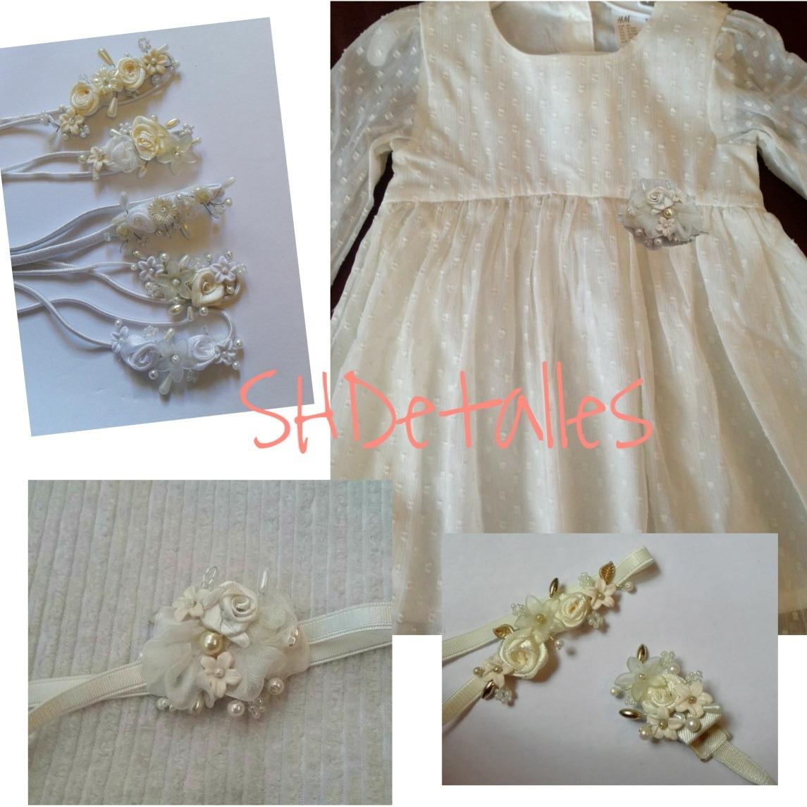 Aplique Flores TocadoDetalle Vestido Set Vinchita Perlas rCxQdtBsh