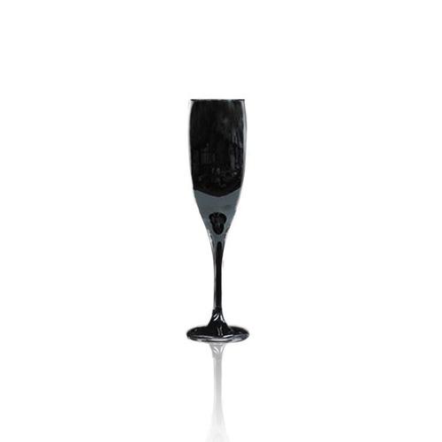 set x 12 copas copa barone vidrio negras champagne 190ml