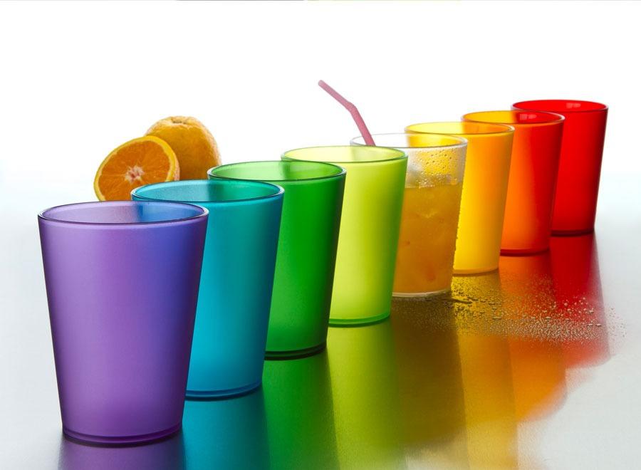 Set X 12 Vaso Vasos Acrilico De Colores Traslucidos Diseño - $ 599 ...