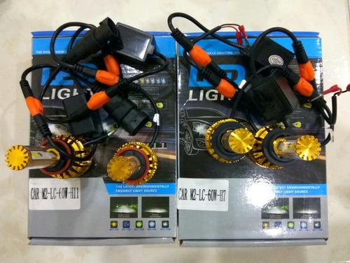 set x 2 bombillos 6000 lum led h11 envío gratis