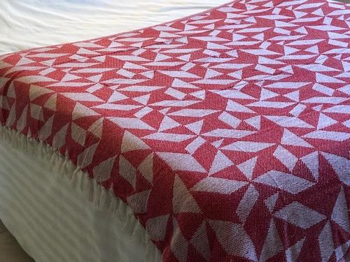set x 2 cubre cama manta rustica hindu cubresillon pie de