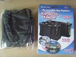 set x 2 organizador de carteras kangaroo keeper