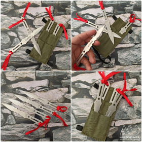 Set X 4 Cuchillos Lanzadores Ninja - Dagas Kunai + Funda