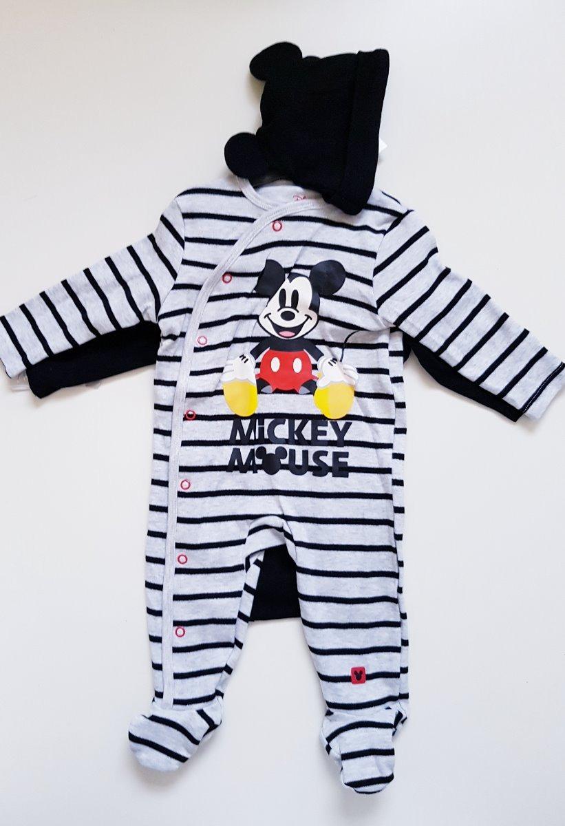 7275e5227745c set x 4 piezas bebe mickey mouse pijama body gorro bandana. Cargando zoom.