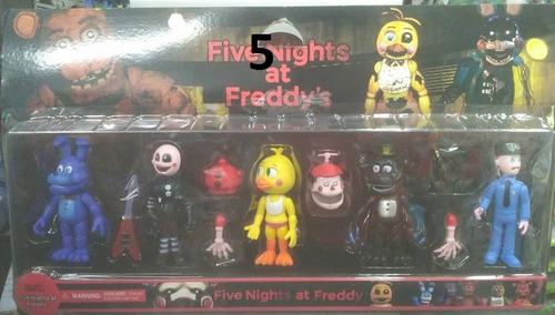 set x 5 muñecos five nighst at freddys fnaf varios modelos