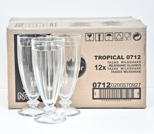 set x 6 copas licuado vidrio milk shake tropical 10712 360ml