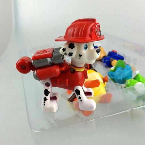 set x 6 muñecos paw patrol con mochila de acción en caja