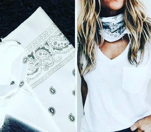 set x 6 pañoletas bandana estampada colores moda