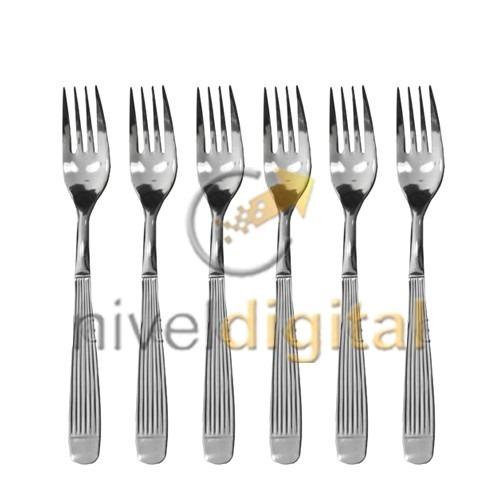 set x 6 tenedores mesa 19 cm carol acero inoxidable suelto