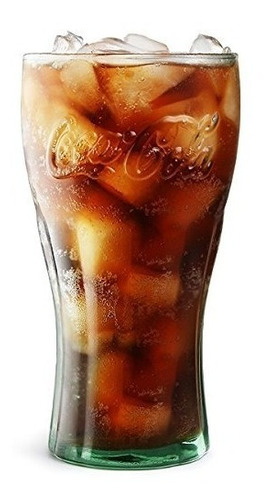 set x 6 vaso vidrio coca cola vintage coleccion  rigolleau