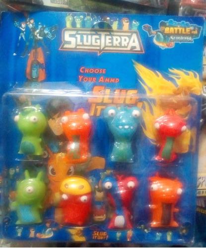 set x 8 muñecos babosas - bajoterra slugterra - envios!!!