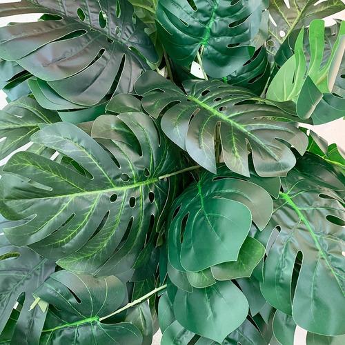 set x 8 planta hoja artificial monstera costilla adán 70cm