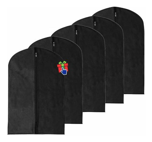 set x10 fundas para ropa corta friselina negro 60x90cm traje