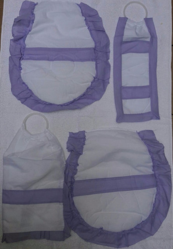 set x2 acc cubre bidet +inodoro +algodonera + rollo fiorella